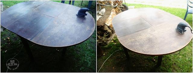 stół fornirowany odnawianie