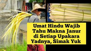 Umat Hindu Wajib Tahu Makna Janur di Setiap Upakara Yadnya, Simak Yuk