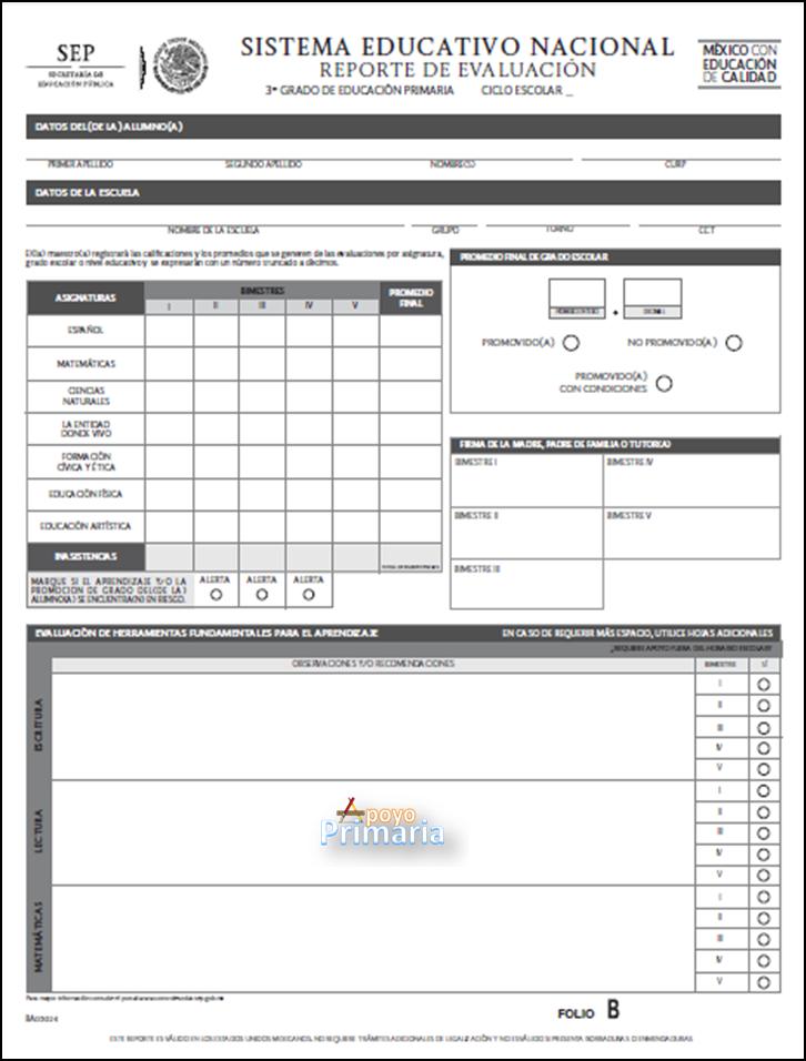 Reportes de evaluación 2014 - 2015 | Apoyo Primaria