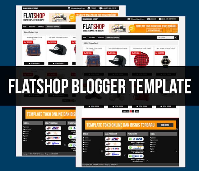 FLATSHOP template toko online terbaru keren abis