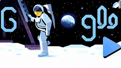 Google Doodle Apollo 11 Space Mission: 60 million people had seen the first Moon Walk, today even the Foot Print of Neil Armstrong.  Google Doodle Apollo 11 Space Mission: 50 Years (50th Anniversary of the Moon Landing) Previously NASA sent Apollo 11 missions to the moon, and this was the first time a person stepped on the moon was kept. Today Google has remembered the same historic step (50th anniversary of Moon Landing) of human history by creating a Google Doodle. Apollo 11 was launched in July, 1969