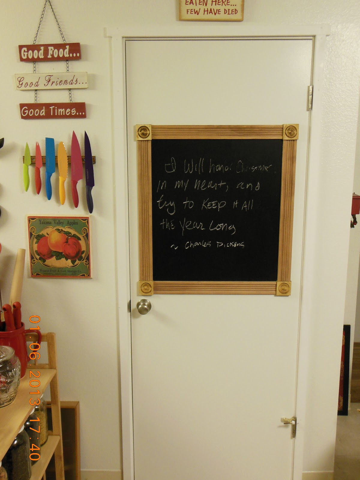 How to make a chalkboard anywhere, very easy project to enjoy!