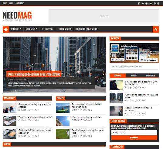 NeedMag Blogger Theme