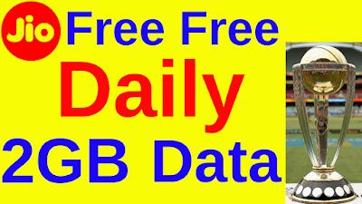 Jio daily 2GB Data Free