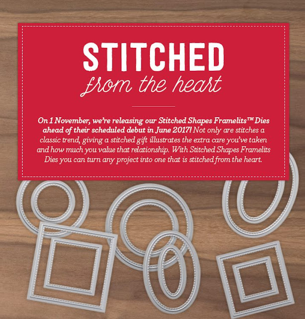 Stampin Up Stitched Shapes Framelits