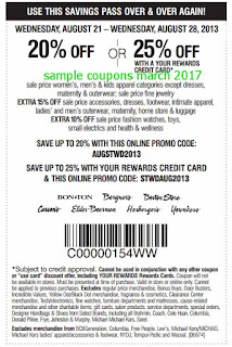 free Carson Pirie Scott coupons for march 2017