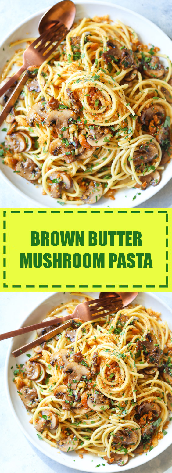 Easy Brown Butter Mushroom Pasta