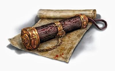 Pergaminos como Tesoro en Dungeons & Dragons - Pergamino Mágico