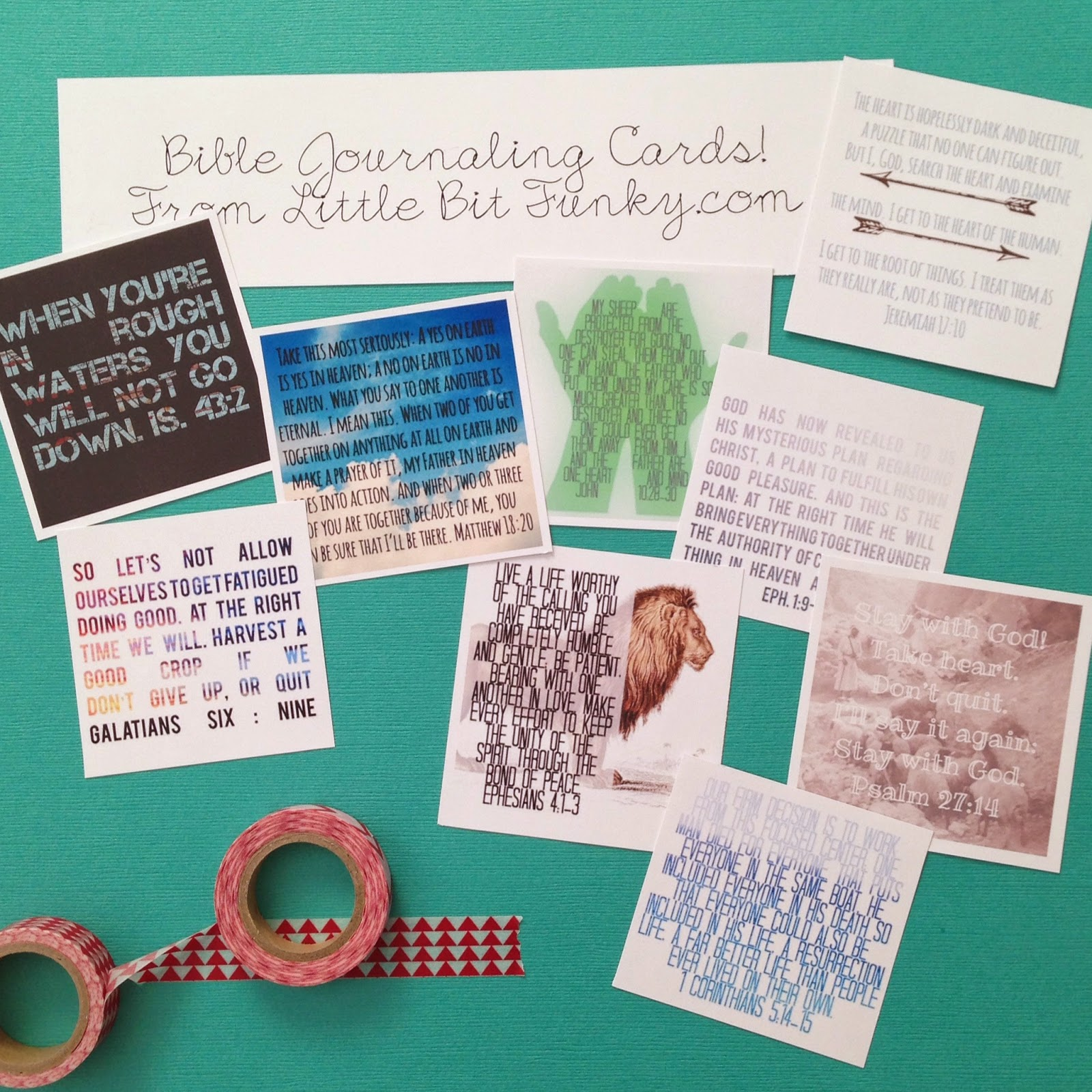 Little Bit Funky Worship Wednesday Bible Journaling Cards Free Scripture Mini Printables