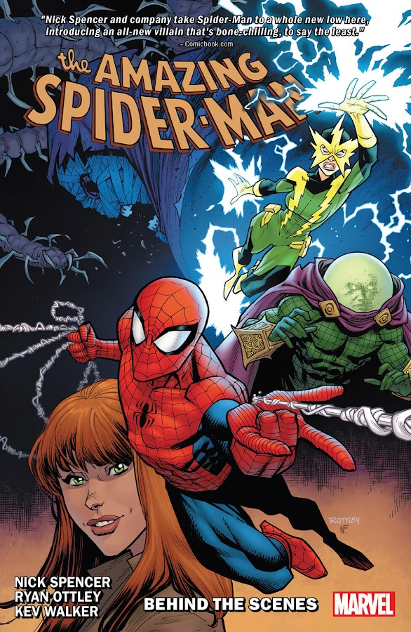 amazing spider-man behind the scenes marvel comics peter parker mary jane watson electro francine frye mysterio quentin beck kindred nick spencer ryan ottley
