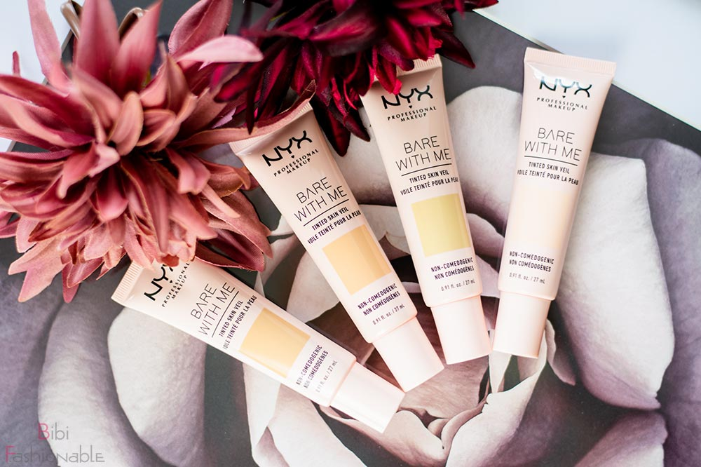 NYX Professional MakeUp Bare with Me Tinted Skin Veil Flatlay