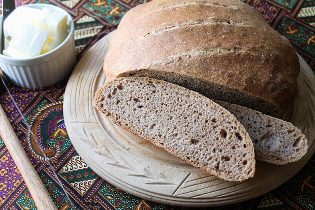 Food Lust People Love: Hearty and flavorful, this artisan sprouted spelt boule bakes up with a crunchy crust and an airy yet chewy crumb. It is very forgiving if you like making dough ahead (which adds so much character and taste!) and baking another day.