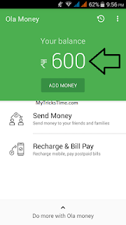 Get 600 rs Recharge in 300 rs from Ola Money app - MyTricksTime.com