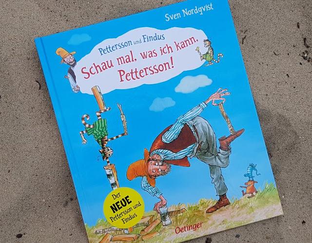 """""""Schau mal, was ich kann, Pettersson!"""" Das zauberhafte neue """"Pettersson und Findus""""-Buch von Sven Nordqvist. Ich stelle Euch auf Küstenkidsunterwegs den neusten Band der beliebten Reihe des schwedischen Kinderbuch-Autors vor und erzähle Euch, was das schöne Bilderbuch in unseren Kindern ausgelöst hat."""