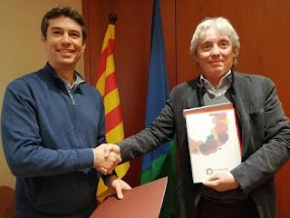 Signatura acord de patrocini FCC - El Vendrell. Foto Aj.Vendrell