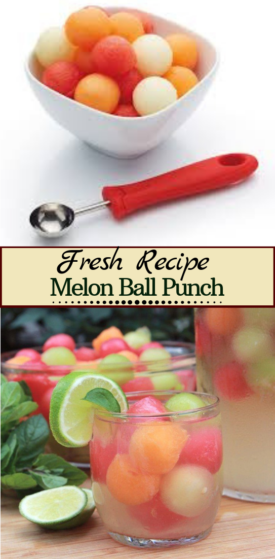 Melon Ball Punch  #healthydrink #easyrecipe #cocktail #smoothie