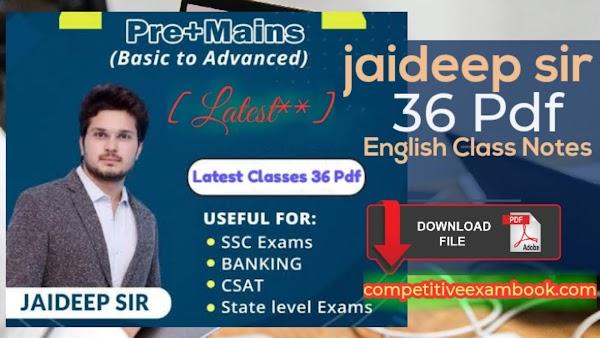[Latest**] jaideep sir english notes pdf free download