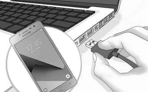 membagi internet samsung ke komputer