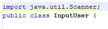 import class Scanner java