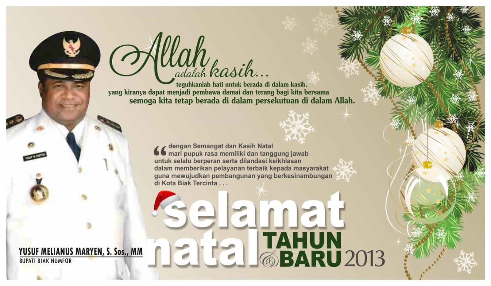Contoh Kartu Ucapan Selamat Natal Dan Tahun Baru ...