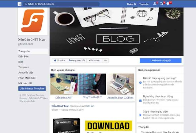 Template Blogspot Facebook Prody Responsive Load Cực Nhanh