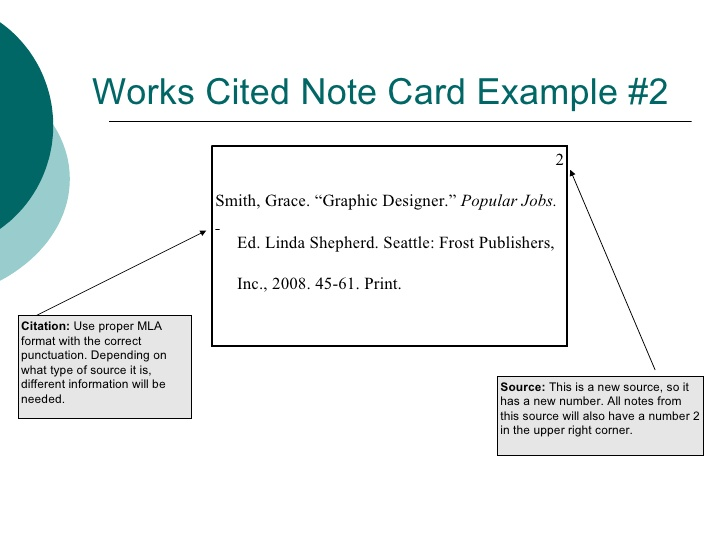 Note Cards Research Paper Mla Format Thinkpawsitive Co