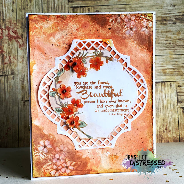 Die Cut Handmade Card for a Beautiful Person using Tim Holtz Distress Oxides and Distress Inks