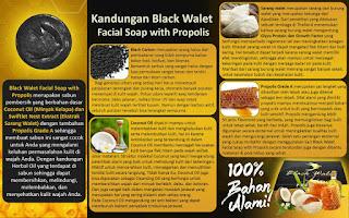 Sabun black walet with propolis