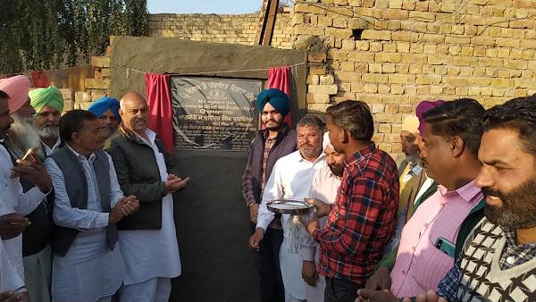 ਪਿੰਡ ਖੂਬਣ ਸ਼ਾਹ ਕਬੂਲ 'ਚ 40 ਲੱਖ ਰੁਪਏ ਦੇ ਪ੍ਰੋਜੈਕਟ ਦਾ ਕੀਤਾ ਉਦਘਾਟਨ