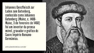 Foto de Gutenberg, o inventor da prensa móvel