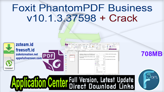 Foxit PhantomPDF Business v10.1.3.37598 + Crack