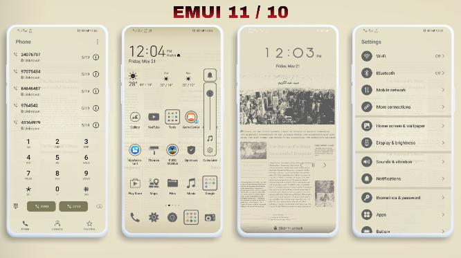 [Emui Themes] Newspaper Emui Theme For Emui 11 & Emui 10