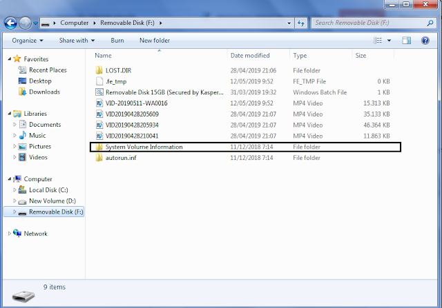 Cara Mengatasi kaspersky internet security pada Flashdisk