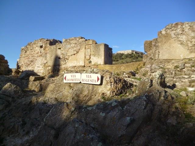 Intersección de la Vía Domitia y la Vía Augusta
