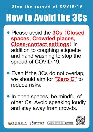 Japanese COVID advice from March 2020 2 Zero COVID