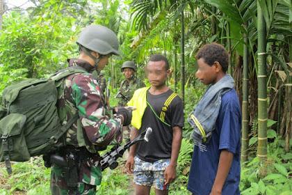 4 Pelintas Batas Ilegal Warga PNG, Diamankan Satgas Pamtas Yonif PR 328 Kostrad di Kibay