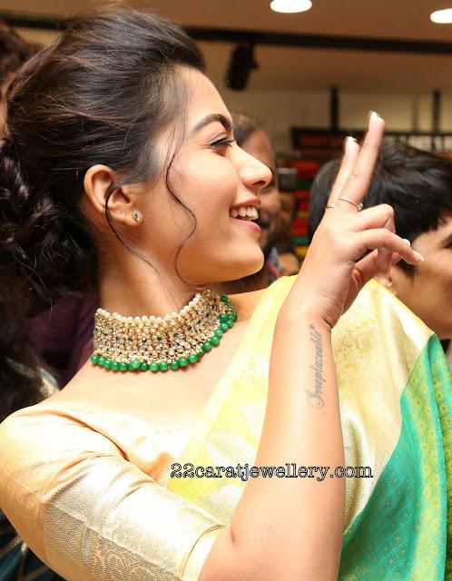 Rashmika Mandanna in Polki Choker