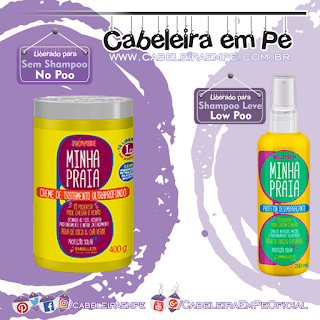Máscara Minha praia (No Poo) e Spray Minha Praia (Low Poo) - Novex