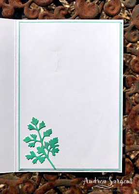 A personally designed and created card featuring Shaded Spruce and the Quiet Meadows bundle by Stampin' Up!, crafted by Andrea Sargent, Australia.