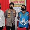 Tetap Prokes, Kabid Humas Polda Sulsel, Pantau Langsung Rikkes Awal Casis Bintara Polwan TA 202 1