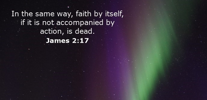 In the same way, faith by itself, if it is not accompanied by action, is dead.