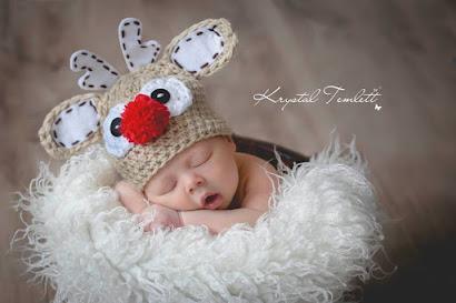 rudolph red nose reindeer hat christmas baby hat photo prop newborn