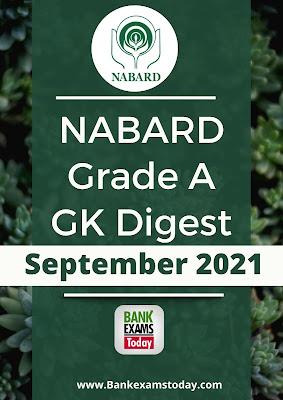 NABARD Grade A GK Digest: September 2021