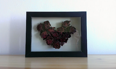 serce z róż na walentynki