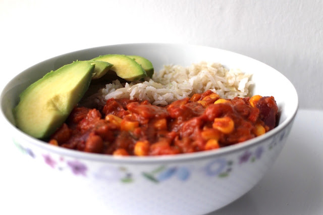 Three Bean Veggie Chilli