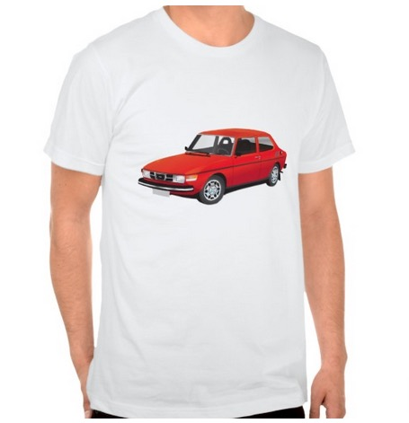 saab, 99, t-shirt, automobiles