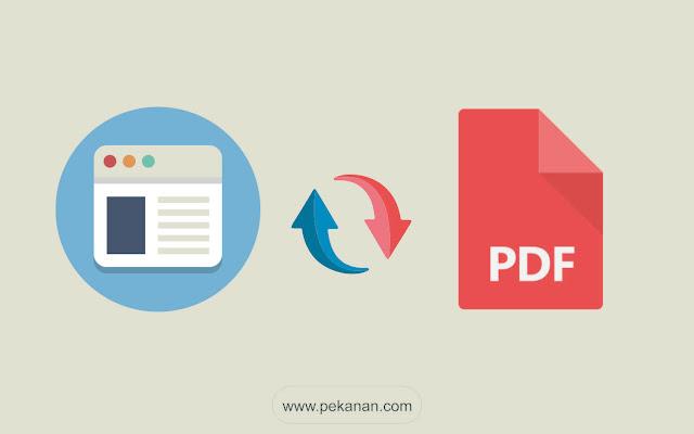 2 Cara Terbaru Menyimpan Atau Konversi Halaman Web ke PDF