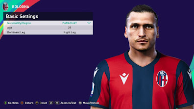 PES 2021 Faces Federico Santander by Rachmad ABs