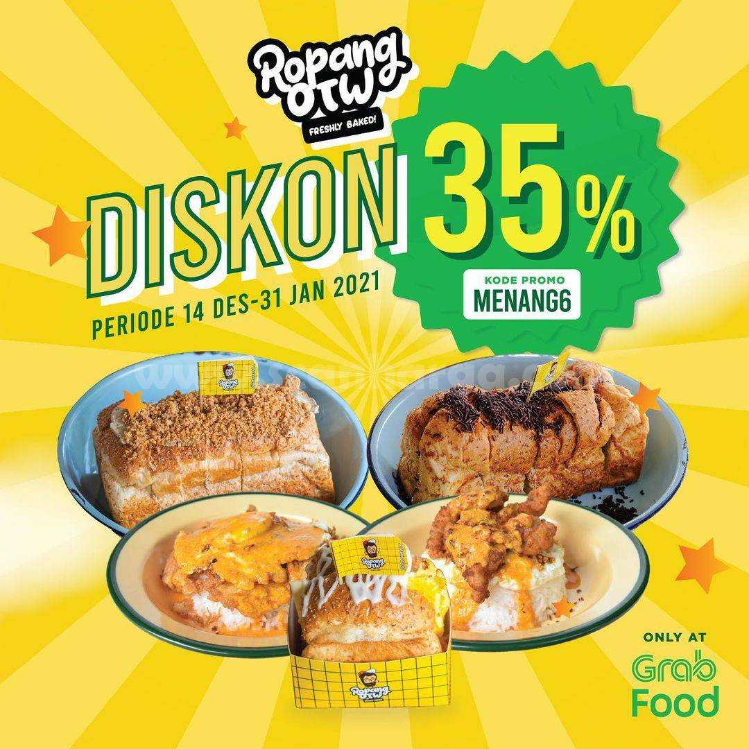 Ropang OTW Promo Diskon 35% via Grabfood