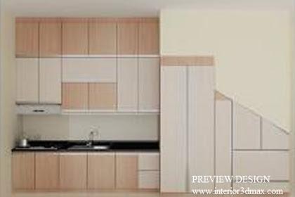 Preview Design Kitchenset Lemari Bawah Tangga Cantik Menarik